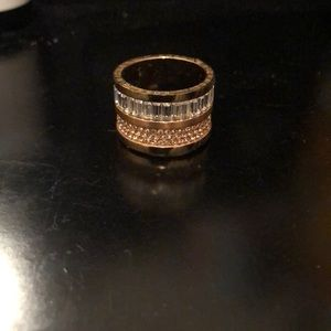 Michael Kors stacked ring in gold and rose gold